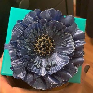 Tieks Box with Navy Blue Flower